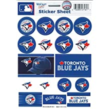 "Toronto Blue Jays Vinyl Sticker Sheet 5""x7"" Decals MLB Licensed Authentic"