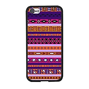 Pretty Purple Aztec Iphone 5c Case Cover - Cute Diamond Geometric Triangle Tribal Pattern Cell Phone Back Protective Cover Shell for Girls