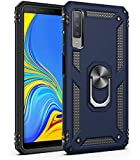 Samsung A7 2018 Case, Extreme Protection Military Armor Protective Cover with Swivel Kickstand Supporting Vertical and Horizontal (Blue)