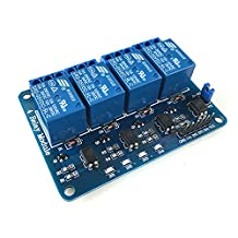 LANDZO 4 Channel Relay Module Controller Board with Optocoupler for Raspberry pi and Arduino