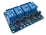 LANDZO 4 Channel Relay Module Expansion Board for Arduino Raspberry Pi DSP AVR PIC ARM … (4 channel relay)