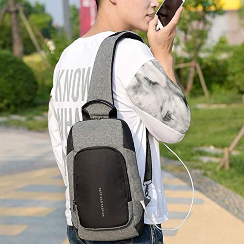 DGY Deportes DGY Multifuncional Kimruida Carga Puerto Hombros para de USB Mochila Hombre Hombros para Viajes antirobo con Bandolera PcraAPq
