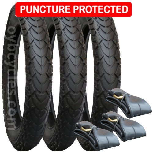 PHIL AND TEDS NAVIGATOR TYRE & INNER TUBE SET PUNCTURE PROTECTED mitas