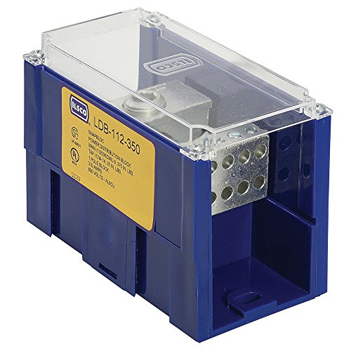 Aluminum 6061 T6 Alloy (Ilsco LDB-22-350 6061-T6 Aluminum Alloy Modular Power Distribution Block 600 Volt 350 KCMIL-6 AWG Primary 350 KCMIL-6 AWG Secondary Snapbloc)