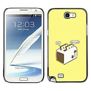 Caucho caso de Shell duro de la cubierta de accesorios de protección BY RAYDREAMMM - Samsung Note 2 N7100 - Preocupado Brindis divertido