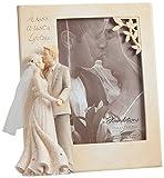 Enesco Foundations by Karen Hahn Wedding Photo Frame Photo Frame, 6.25-Inch