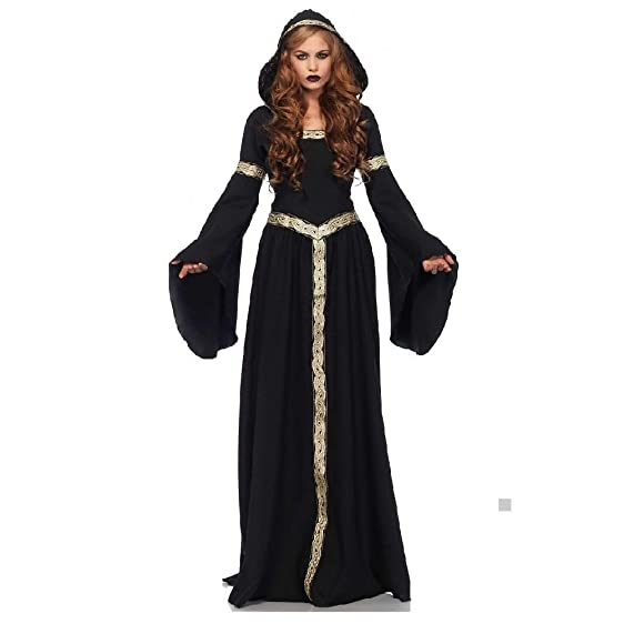 Amazon.com: Sorceress Costume Adult Medieval Witch Halloween Fancy ...