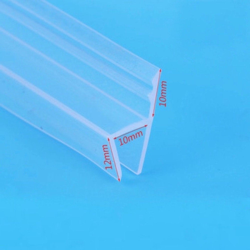 10mm 3/8 inch Thick Glass Seals Draught Excluder Strip Sliding Sash Screen Shower Door Window Balcony Silicone Draft Stopper Weatherstrip 1 Meter 3.28 Feet h