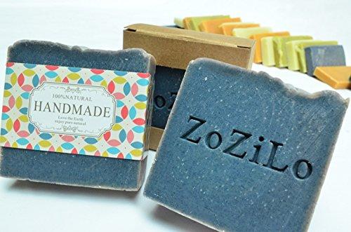 Oil Free Oil (ZoZiLo Soap - Ocean Blue -Shea Butter Soap - Olive Oil Soap -Organic Essential Oil Soap - Palm Oil Free - Handmade Soap-4.6 oz)