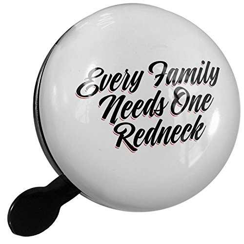 Redneck Choppers - Small Bike Bell Vintage Lettering Every Family Needs One Redneck - NEONBLOND