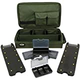 NGT Green Hair Rig Board Wallet System With Tackle Box Deluxe Carp Fishing b27ed8afdd5
