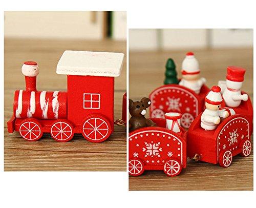 JAYSLE 2Pcs Christmas Wooden Train Kids Toys Birthday New Year Xmas Décor Festival Ornament Gift by JAYSLE (Image #2)