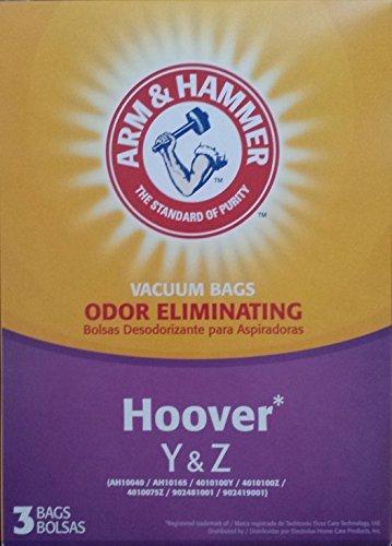 Arm & Hammer Premium Allergen Odor Eliminating Vacuum Bags, Hoover Y & Z, 3 pack
