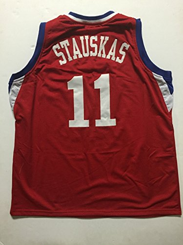 Unsigned Nik Stauskas Philadelphia 76ers Sixers Red Custom Basketball Jersey Size XL No Brands/Logos