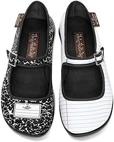 Hot Chocolate Design Chocolaticas Funky Canvas Women's Mary Jane Flat Shoes 1