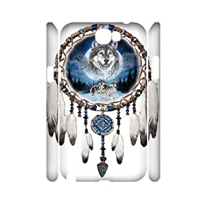 ANCASE Wolf Dream Catcher Customized Hard 3D Case For Samsung Galaxy Note 2 N7100