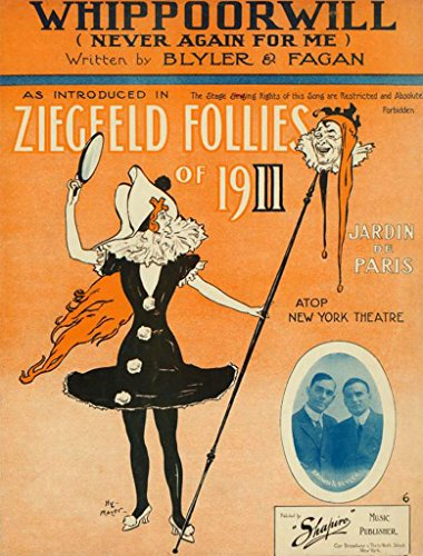 - Ziegfeld Follies Of 1911 (Whippoorwill - Never Again For Me) Copy 11 x 14 Canon Film Photo ()