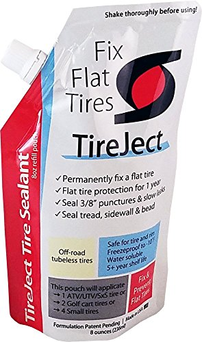 TireJect Tire Sealant Refill Pouch - 8oz (Best Tubeless Flat Tyre Puncture Fix Repair - Nearest Find Shop