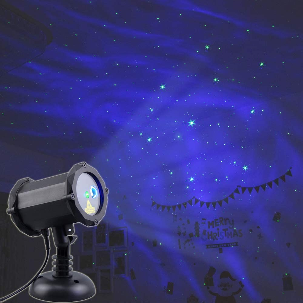 Poeland Star Laser Projector Christmas Light with LED Blue Nebula Cloud Starlight Suitable for Bedroom Decoration, Family Party, KTV, Dance Halls, ...