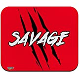 Savage Claw Mark Red and Black Low Profile Thin Mouse Pad Mousepad