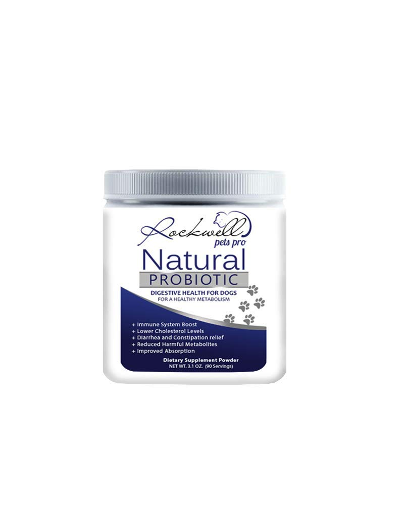 Rockwell Pets Pro Natural Probiotics for Dogs by Rockwell Pets Pro