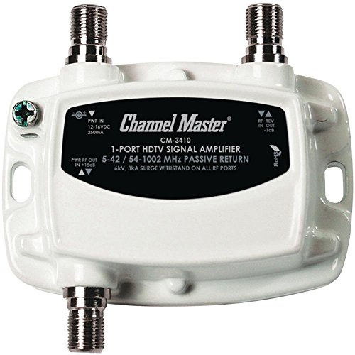 CMSTCM3410 - CHANNEL MASTER CM-3410 Ultra Mini Distribution Amp (1 Port) (Amplifier Master Tv Channel)
