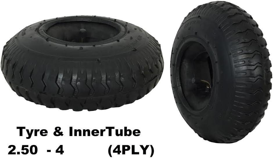 4x 2.80//2.50-4 4PLY Wheelbarrow Sack Truck Wheels /& Innertubes and Tyres 250-4