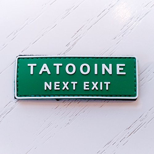 Tatooine Next Exit Star Wars PVC Morale Patch, Hook Backed Morale Patch by NEO Tactical Gear