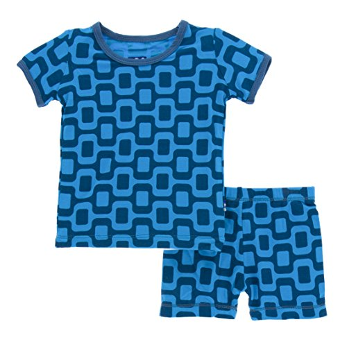 79f14fdd1 Kickee Pants Little Boys Print Short Sleeve Pajama Set with Shorts ...