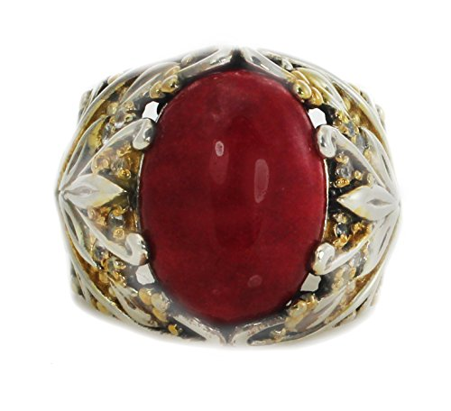 - Michael Valitutti Red Jade with White Sapphire Cocktail Ring