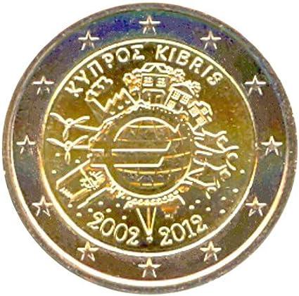 2 € Chipre 2012 Diez años de Billetes y Monedas en Euros: Amazon ...