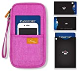 P.travel Passport wallet Linene Pink with RFID Stop
