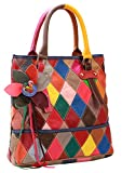 On Clearance Heshe Womens Multi-color Shoulder Bag Hobo Tote Handbag Cross Body Purse (Colorful-2B4009)