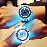 Wensltd Clearance! Unisex LED Backlight Sport Waterproof Quartz Wrist Watches (White)