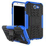 Samsung Galaxy J7 Perx Case,Galaxy J7 2017,Galaxy J7 V 2017 Case,Yiakeng Shockproof Protection Dual Protective Armor Case Cover with Kickstand for Samsung Galaxy J727V/J7V/J7 Sky Pro (Armor Blue)