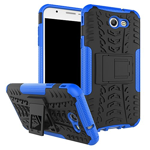 Galaxy J7 V Case, Galaxy J7 Prime, Galaxy Halo, Galaxy J7 Perx, Galaxy J7 Sky Pro, Galaxy J7 2017, KMISS Hybrid Heavy Duty Armor Protection Cover [Anti Slip] [Built-In Kickstand] Skin Case (Blue)