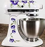 kitchenaid mixer flower - Purple Poppy Flowers Watercolor Kitchenaid Mixer Mixing Machine Decal Art Wrap