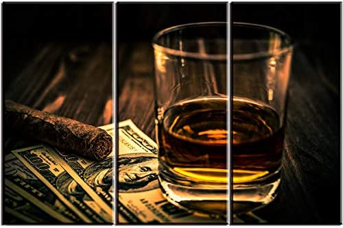 Cigar and Wine Wall Art