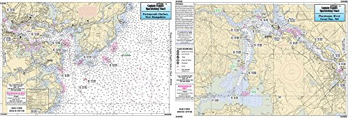 Portsmouth Harbor, NH/Great Bay & Kittery ME - Laminated Nautical Navigation & Fishing Chart by Captain Segull's Nautical Sportfishing Charts | Chart # - Nh Kittery