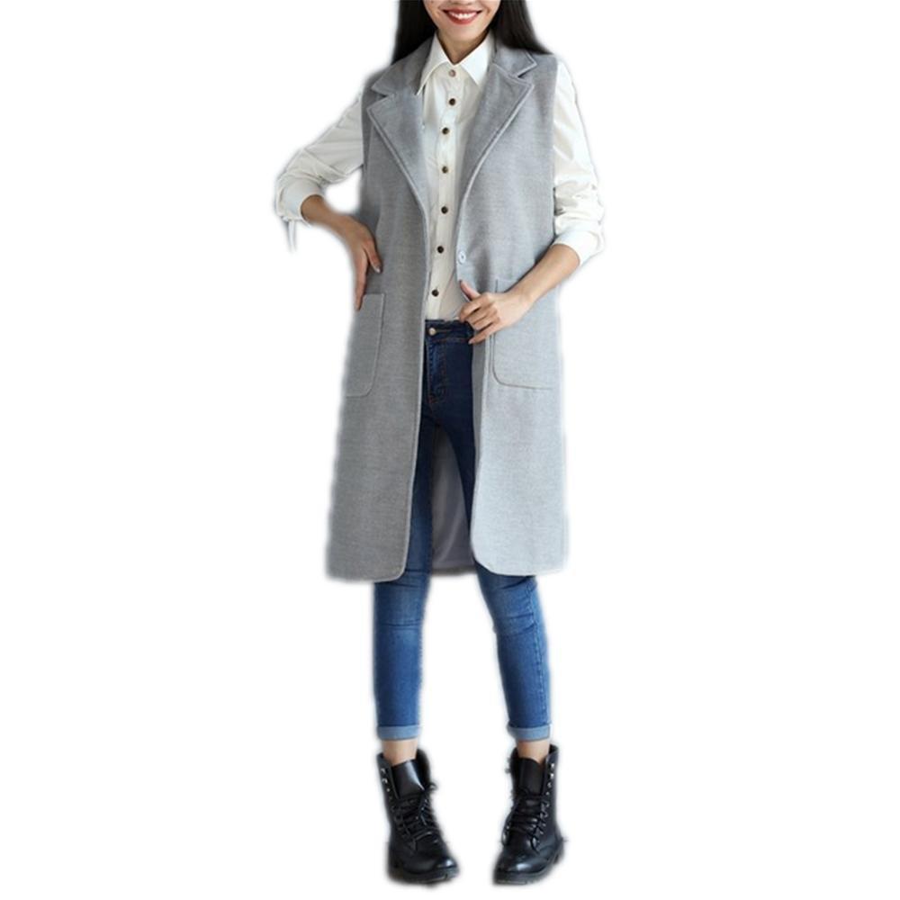 Nuan Jia Feng manera de las nuevas mujeres de invierno era larga sección delgada de la chaqueta del juego del chaleco mujeres de gran tamaño