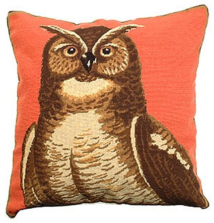 デラックス枕Great Horned Owl 18 x 18インチNeedlepoint枕   B00ADW3UYS