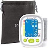 Wrist Blood Pressure Cuff Monitor by Balance, '2015 Update' Ultra Portable High Accuracy Readings, Easy-to-Read LCD, Travel Bag included with Two User Support and 2-Year Warranty (2017)