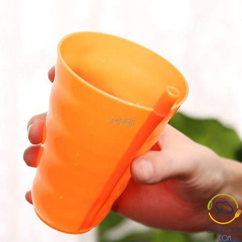 ODC 4 Gobelets Plastique r/éutilisables avec Paille int/égr/ée pour Enfant
