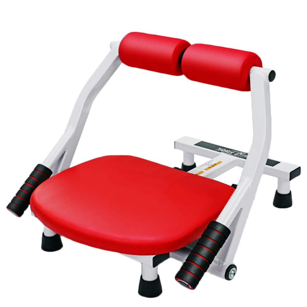 JIANFEI 腹筋トレーニング 家庭 女性 4泉 鋼管 耐荷重性 150KG 、3色 (色 : Red, サイズ さいず : 49x43x36cm) 49x43x36cm Red B07NPNTP3C