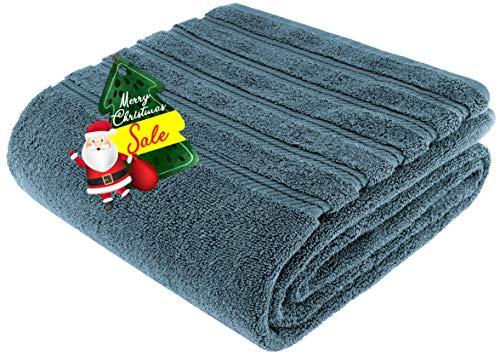 American Soft Linen 100% Ringspun Genuine Cotton Large, Turkish Jumbo Bath Towel 35x70 Premium & Luxury Towels for Bathroom, Maximum Softness & Absorbent Bath Sheet [Worth $34.95] - Colonial Blue