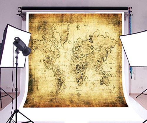 Laeacco Background 8x8ft Photography Vinyl Backdrop Retro World Map Art Gallery Background Photo Studio Props Customized