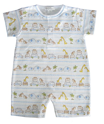 Kissy Kissy Baby-Boys Infant Safari Excursion Print Short Playsuit-Multicolored-0-3 Months