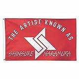 WWE Authentic Wear WWE Shinsuke Nakamura 3 x 5 Logo Flag