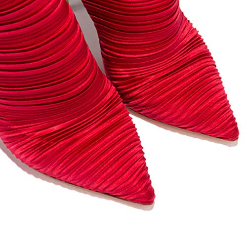 Modo Vitello Scarpe Sexy Punta Wetkiss Tacchi Donne Da Avvio Di Stivali A Alto Punta 2019 Metà Donna Calza Tacco Spillo qqgz6t