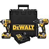 DEWALT DCK299P2 20V Max XR Lithium Ion Brushless Premium Hammer Drill and Impact Driver Combo Kit, 5.0 Ah